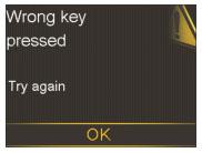 Nhấn sai nút để mở máy